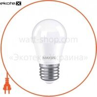 Лампа светодиодная MAXUS 1-LED-745 G45 7W 3000K 220V E27