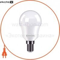 Лампа светодиодная MAXUS 1-LED-750 G45 8W 4100K 220V E14