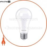 Лампа светодиодная MAXUS 1-LED-777 A60 12W 3000K 220V E27