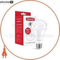 Лампа светодиодная MAXUS 1-LED-781 A70 15W 3000K 220V E27