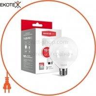LED лампа MAXUS G95 15W теплый свет 220V E27 (1-LED-903)