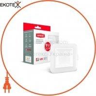 Світильник світлодіодний 3-step SDL MAXUS 9W, 3000/4100K (квадрат)