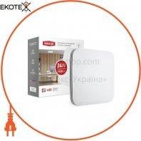 Cветильник накладной MAXUS 24W 4100K (тонкий дизайн, IP40) квадрат (02)