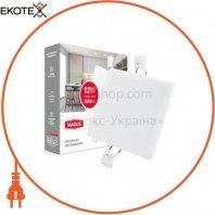 Світильник світлодіодний MAXUS SP edge 12W, 4100К (квадрат)