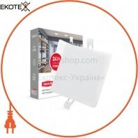 Світильник світлодіодний MAXUS SP edge 24W, 4100К (квадрат)