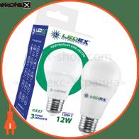 Светодиодная лампа LEDEX, 12W, E27, 1140lm, 4000К нейтральный, матовое стекло, 270°,  чип: Epistar (Тайвань)