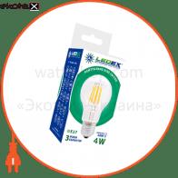 LED лампа Filament LEDEX 6W, E27, 760lm, 4000К, 360°, чип: Epistar (Тайвань)