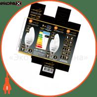 Светодиодная лампа LEDSTAR,  6W, E14, свечка 540lm, 4000К нейтральный, матовое стекло, 160?,  чип: Epistar (Тайвань)