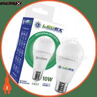 Светодиодная лампа LEDEX, 10W, E27, 950lm, 4000К нейтральный, матовое стекло, 270°,  чип: Epistar (Тайвань)