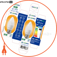 100866 Ledex светодиодные лампы ledex led лампа ledex c37-6w-e27-570lm-3000к-(lx-100866)