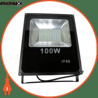 LED Прожектор 100W 6500К черний