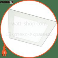 светодиодный светильник ledex, квадрат,  9w, 3000к тепло белый, матовое стекло, напряжение: ac100-265v, алюминий светодиодные светильники ledex Ledex 102111