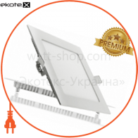 Светодиодный светильник LEDEX, квадрат,  6W,  6500К холодно белый, матовое стекло, Напряжение: AC100-265V, алюминий