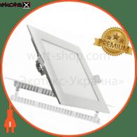 Светодиодный светильник LEDEX, квадрат,  18W,  6500К холодно белый, матовое стекло, Напряжение: AC100-265V,  алюминий