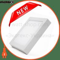 Светодиодный светильник LEDEX, квадрат, накладной,  8W,  6500К холодно белый, матовое стекло, Напряжение: AC100-265V, алюминий, тонкий