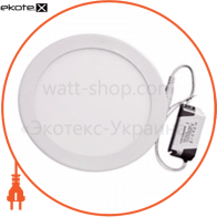 светодиодный светильник ledex, круг, 18w, 4000к нейтральный, матовое стекло, напряжение: ac100-265v, алюминий