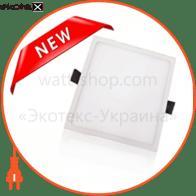 Светодиодный светильник LEDEX, квадрат,  22W,  4000К нейтральный, матовое стекло, Напряжение: AC100-265V, алюминий, тонкий