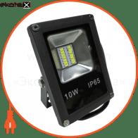LED Прожектор 10W 6500К черний