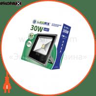 Светодиодный прожектор LEDEX 30W, 2400lm, 6500К холодный белый, 120?, IP65, (slim)