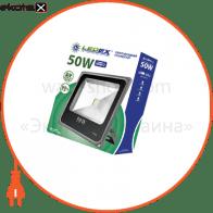 Светодиодный прожектор LEDEX 50W, 4000lm, 6500К холодный белый, 120?, IP65, (slim)