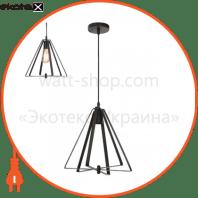 Светильник подвесной E27 250V 1м. металлический черный