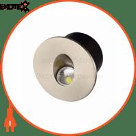 Светильник лестничный LED 3W 4000К 86Lm 185-264V d-78мм.круглий белый