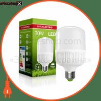 EUROELECTRIC LED Лампа сверхмощная Plastic 30W E27 4000K (40)