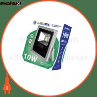 Светодиодный прожектор LEDEX 10W, 650lm, 6500К холодный белый, 120?, IP65, (slim)