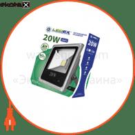 Светодиодный прожектор LEDEX 20W, 1300lm, 6500К холодный белый, 120?, IP65, (slim)