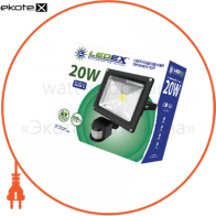 Светодиодный прожектор LEDEX 20W slim SMD, 1800lm, 6500К холодный белый, 120º, IP65