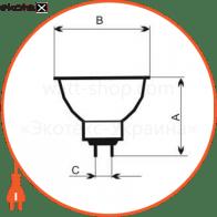 лампа галогенная mr-16 50w gu5,3 38° 13-1025 галогенные лампы electrum ELM 13-1025