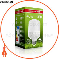 euroelectric led лампа надпотужна plastic 40w e27 6500k (40)