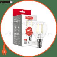 Лампа світлодіодна G45 FM 4W 3000K 220V E14  (1-LED-547)