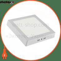 Светильник накладной. квадрат, корпус металл 300х300mm ip 20 SMD LED 28W 4200К 1960Lm, цвет - белый (220-240v)