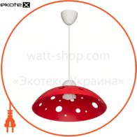 Светильник ERKA 1302, потолочный, 60W, (красный), Е27