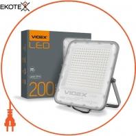 LED прожектор VIDEX PREMIUM 200W 5000K 220V Gray