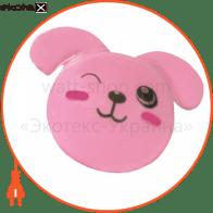 """Світильник нічний, FN1167 """"заєць""""  рожевий"""