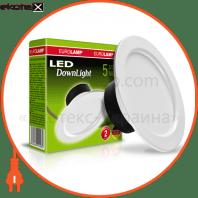 Светодиодный EUROLAMP LED Светильник круглый DownLight 5W 4000K