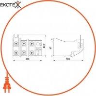 Enext i0110013 тепловое реле e.industrial.ukh.100.125, номин. ток 100а, диап. регул. 85-125 а