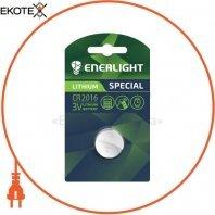 Батарейка ENERLIGHT LITHIUM CR 2016 BLI 1