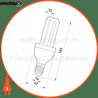 лампа энергосберегающая e.save.2u.e14.15.6400, тип 2u, патрон е14, 15w, 6400 к энергосберегающие лампы enext Enext 180005