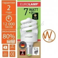 t2 spiral  7w e14 2700k энергосберегающие лампы eurolamp Eurolamp