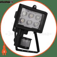 Прожектор светодиодный с дет. движения e.light.LED.sensor.150.6.6.6000.black 6Вт черный