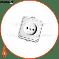 розетка NEPTUN 2222 одинарна без заземлення біла (IP44)