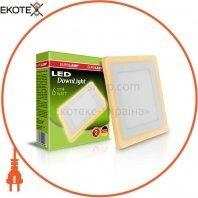 Светодиодный EUROLAMP LED Светильник квадратный точечный 6W 4000K(orange)