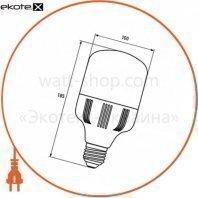 euroelectric led лампа надпотужна plastic 30w e27 6500k (40)