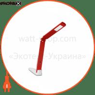 світильник настільний DELUX_TF-310_5 Вт 4000К LED біло-червоний