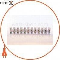 Клеммная колодка 12групп 3А 2.5-4.0mm кв. полиэтилен ELCOR
