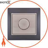 Диммер 500 Вт с фильтром и предохранителем 701-2930-117 Цвет Темно-серый/Жемчужно-белый металлик 10АХ 250V~