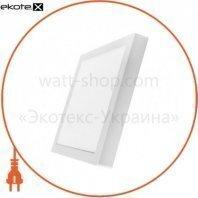 Светильник светодиодный накладной потолочный DELUX CFQ LED 10 4100К 220В 24Вт квадрат